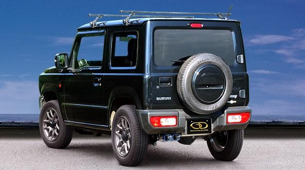 ガナドール ジムニー 3BA-JB64W マフラー 左ダブル出し フルサイズ センターパイプ付 GDE-158QST GANADOR Vertex 4WD SUV バーテックス 4WD SUV 配送先条件有り