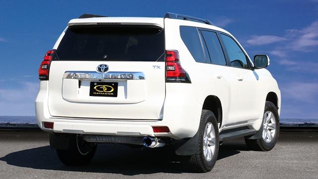ガナドール ランドクルーザープラド ランクルプラド CBA-TRJ150W 標準バンパー用 マフラー 右シングル出し リヤピース GVE-044BL GANADOR Vertex 4WD SUV 配送先条件有り