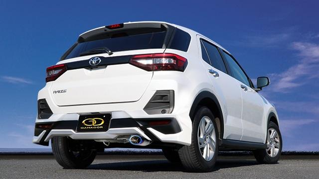 ガナドール ライズ 5BA-A200A 2WD モデリスタ ADVANCE BLAST STYLE リヤスカート付用 マフラー 右シングル出し フルサイズセンターパイプ付 GVE-046MBL GANADOR Vertex 4WD SUV 配送先条件有り