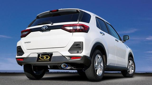 ガナドール ライズ 5BA-A210A 4WD ノーマルバンパー マフラー 右シングル出し フルサイズセンターパイプ付 GVE-045BL GANADOR Vertex 4WD SUV 配送先条件有り
