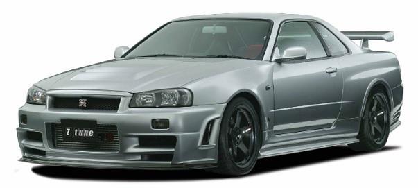 ニスモ スカイライン GT-R BNR34 フロントフェンダーセット Z-tune Type フェンダーアッセンブリー交換タイプ 63110-RSR4601 NISMO 配送先条件有り