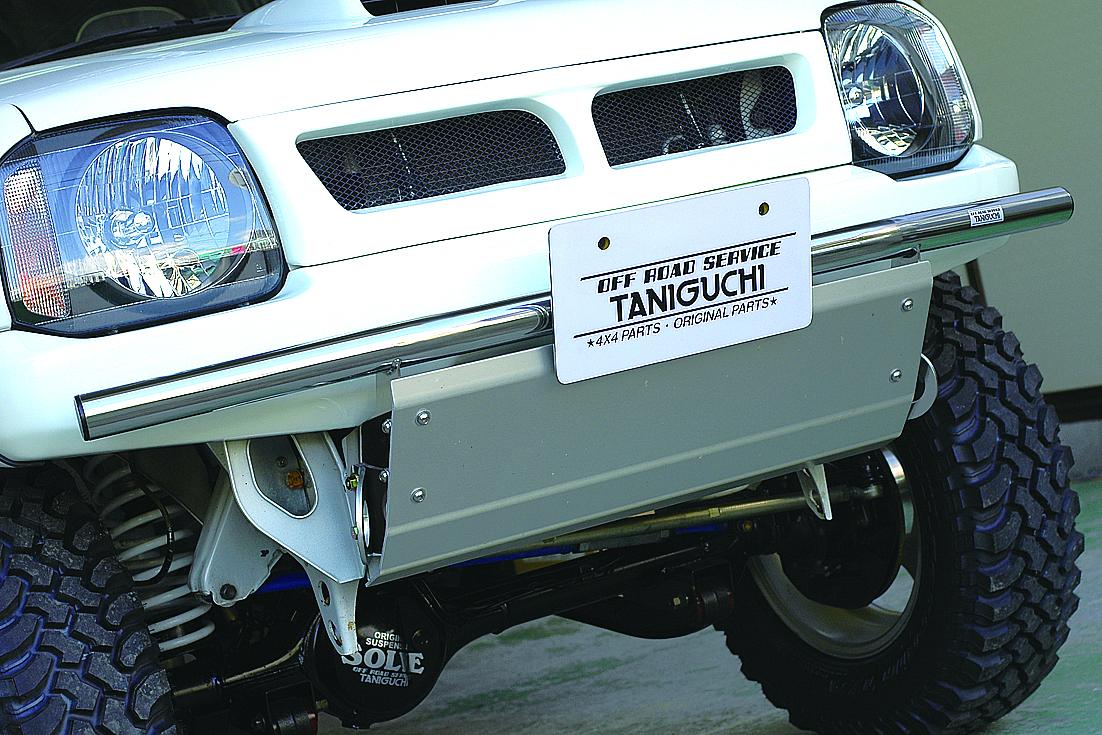 オフロードサービス タニグチ ジムニー JB23 オフロードフロントバンパー タイプ2 スチール製黒 OFF ROAD SERVICE TANIGUCHI