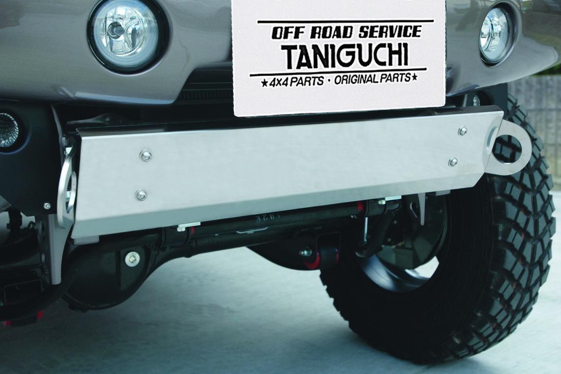 オフロードサービス タニグチ ジムニー JB23 ステンレス スキッドプレート FRPバンパー用 OFF ROAD SERVICE TANIGUCHI
