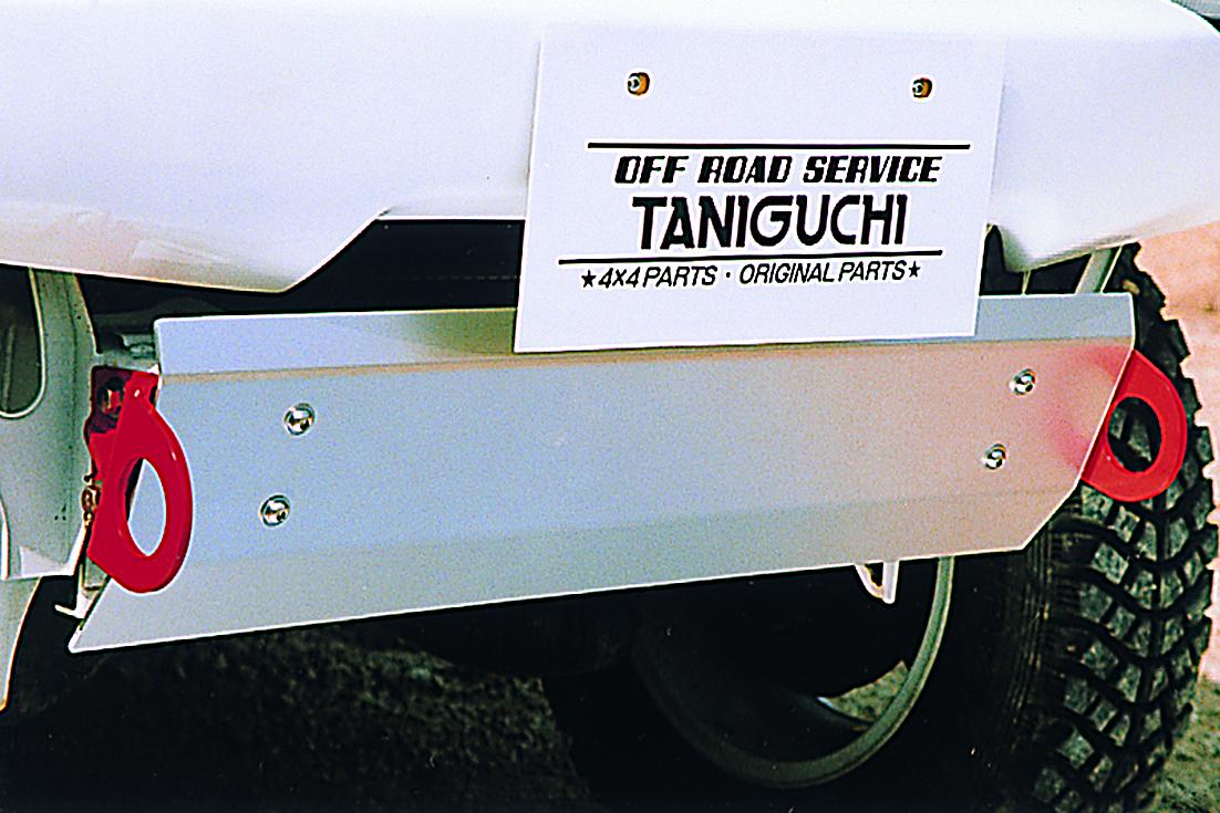 オフロードサービス タニグチ ジムニー JB23 スキッドプレート FRPバンパー用 左右けん引フック付 OFF ROAD SERVICE TANIGUCHI