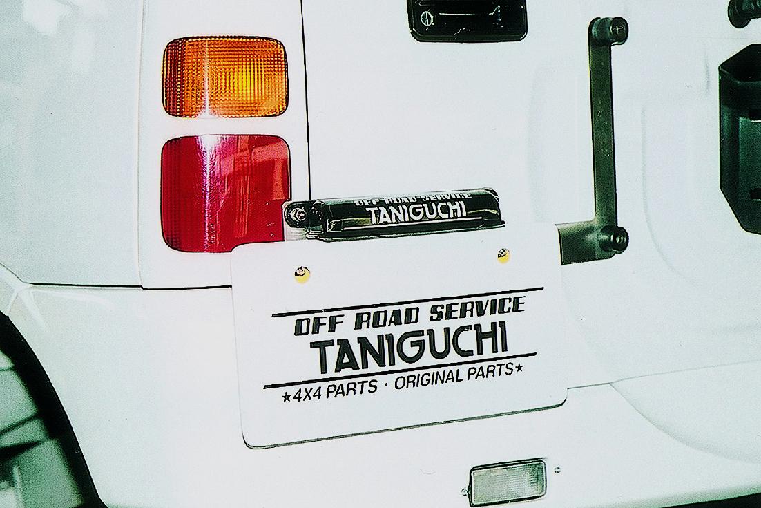 オフロードサービス タニグチ ジムニー JB23 スペアタイヤ純正位置用 ナンバー移動キット LEDナンバー灯セット OFF ROAD SERVICE TANIGUCHI