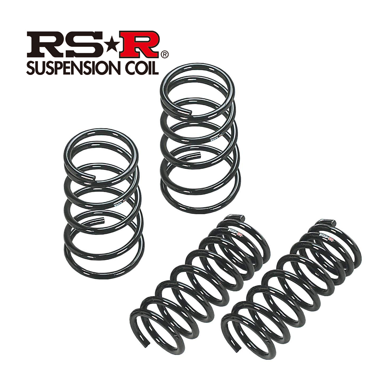 RS-R ノート ニスモ S E12 ダウンサス スプリング 1台分 N009D RSR ダウン RSR 個人宅発送追金有