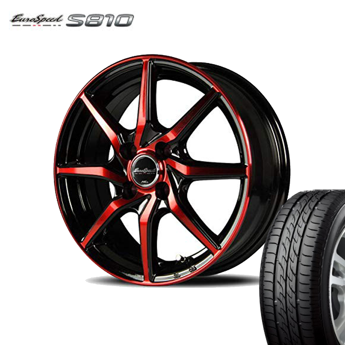 Euro Speed タイヤ ホイール セット 1本 17インチ 5H114.3 7.0J+48 ユーロスピード S810 マナレイ スポーツ 特選輸入タイヤ 225/65R17 225 65 17