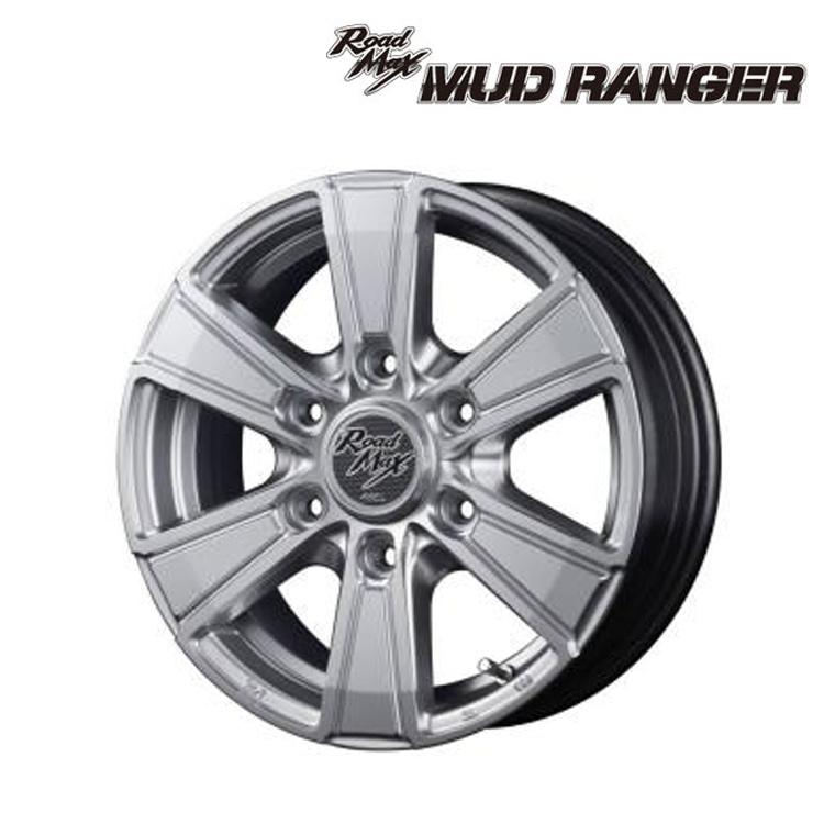 ロードマックス マッドレンジャー ホイール 1 本 18インチ 8.0J+40 6H139.7 6穴 ハイパーシルバー マナレイ スポーツ ROADMAX MUD RANGER