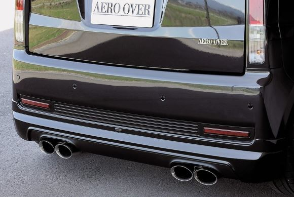K-FACTORY AEROOVER ムーヴカスタム L175S/L185S 前期用 リアハーフスポイラー FRP製 未塗装 エアロオーバー ケーファクトリー 配送先条件有り
