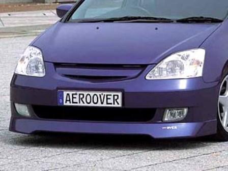 K-FACTORY AEROOVER シビック EU1/3 前期 フロントバンパー FRP製 未塗装 エアロオーバー ケーファクトリー 配送先条件有り