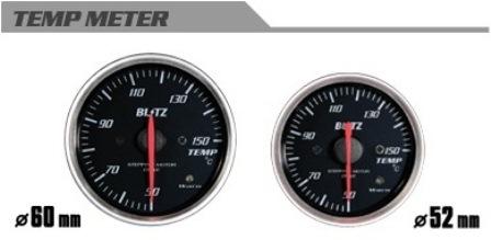 BLITZ ブリッツ φ52 TEMPメーター 汎用 コードNO 19573