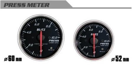 正規品送料無料 BLITZ ブリッツ_φ52 ハイクオリティ PRESSメーター汎用__メーター_ ブリッツ φ52 19574 コードNO 汎用 PRESSメーター