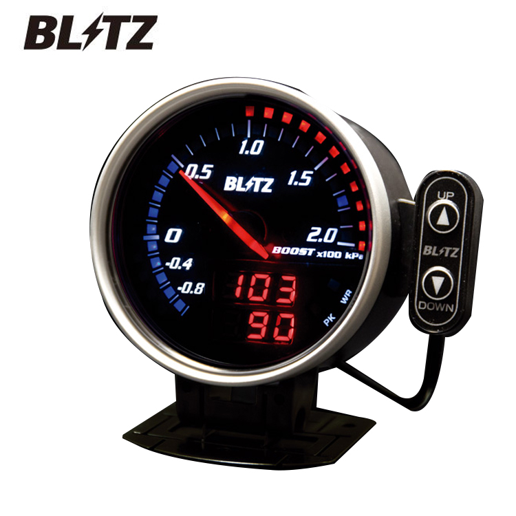 送料無料 BLITZ ブリッツ FLDメーター For ハイブリッド タコメーター 品番 15203 プリウスα ZVW40W ブリッツ正規代理店