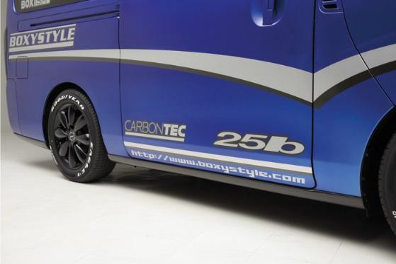 boxystyle ボクシースタイル BOXISM ボクシズム カーボンサイドスポイラー NV350キャラバン E26 5ドア ロング用