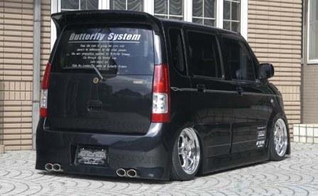 Butterfly System バタフライシステム ワゴンR RR MH21/22 リアバンパー 黒死蝶