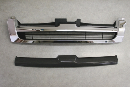 チャージスピード ハイエース H200系 前期 グリルフィニッシャー 純正グリル用 カーボン CHARGESPEED