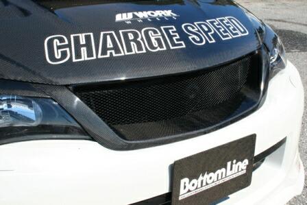 チャージスピード インプレッサWRX GRB/GRF C型 STI フロントエアログリル タイプ2 カーボン CHARGESPEED BottomLine ボトムライン