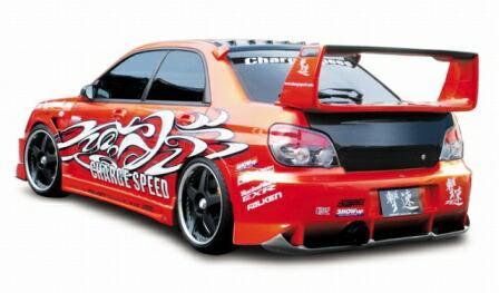 チャージスピード インプレッサ GD# F/G型 リアバンパー タイプ2 カーボン CHARGESPEED 撃速CHARGE SPEED 撃速チャージスピード