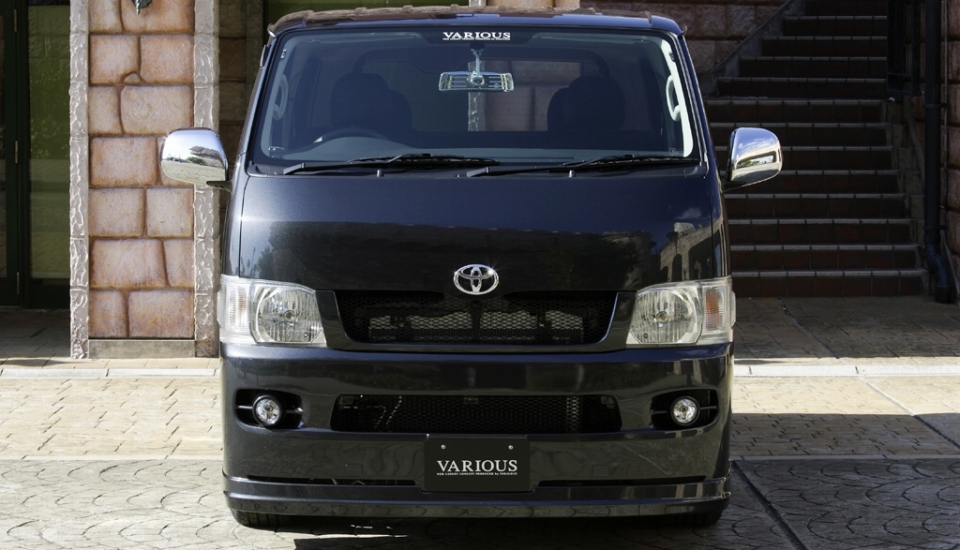 ファブレス ハイエース KDH200V・K・205V/TRH200V・K フロントバンパースポイラー VARIOUS FABULOUS