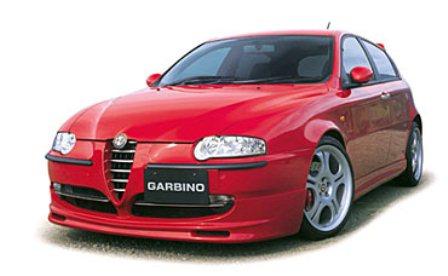 ガルビノ アルファロメオ アルファ147 フロントハーフスポイラー ウレタン製 GARBINO