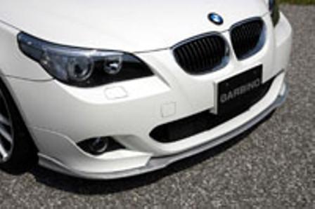 ガルビノ BMW 5シリーズ Mスポーツ フロントリップスポイラー ブラック・シルバーカーボン製 GARBINO