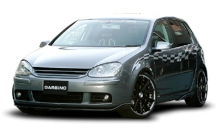 ガルビノ フォルクスワーゲンゴルフ V フロントリップスポイラー カーボン製 GARBINO