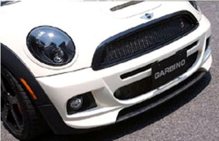 ガルビノ ミニ R55 R56 R57 クーパーS 前期 フロントバンパースポイラー FRP製(カーボンフィン) GARBINO