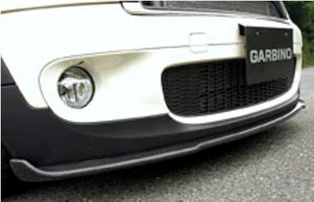 ガルビノ ミニ R56 クーパーS フロントリップスポイラー カーボン製 GARBINO