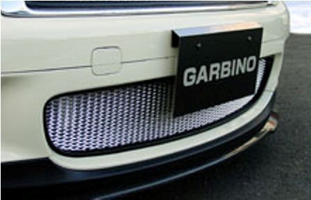 ガルビノ ミニ R56 クーパーS フロントダクトガーニッシュ グリル本体(枠):FRP製素地/ネット:アルミ製素地 GARBINO