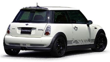 ガルビノ ミニ R53 クーパーS リアハーフスポイラー FRP製 GARBINO