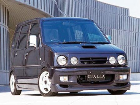 ジアラ ムーヴ L900系 前期 カスタム フロントバンパースポイラー GIALLA スポルティボ 配送先条件有り