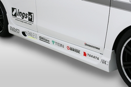 ings イングス ヴィッツ NCP90系 前期 RS サイドステップ ハイブリットエアロ N-SPEC エヌスペック 個人宅発送追金有