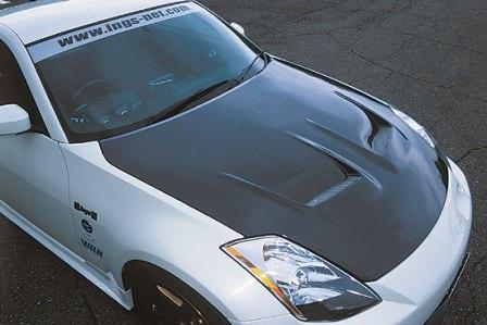 ings イングス フェアレディZ Z33 ボンネット カーボン タイプ1 N-SPEC エヌスペック 個人宅発送追金有