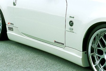 ings イングス フェアレディZ Z33 前期 クーペ/ロードスター サイドステップ FRP LX-SPORT エルエックススポーツ 個人宅発送追金有