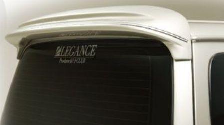 ジェイクラブ ハイエース 100系 ルーフスポイラー メッキモール付き、バン、ワゴン共通 未塗装 j-club LEGANCE レガンス