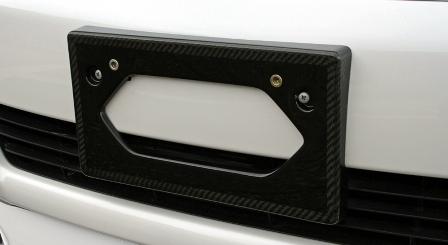LXモード レクサス LS460 中期 カーボンフロントライセンスベース クリアー塗装仕上げ LX-MODE 配送先条件有り