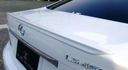 LXモード レクサス LS460 中期 カラードトランクスポイラー 塗装済 LX-MODE 配送先条件有り