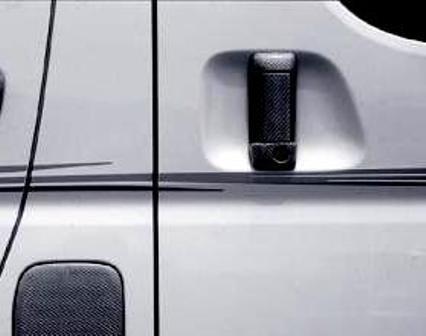 mac マック ハイエース 200系  アウターハンドルカバー リア左右セット カーボン スターリングブリック STERLING BLICK
