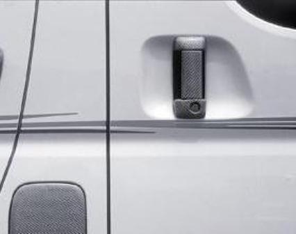 mac マック ハイエース 200系  アウターハンドルカバー リア左右セット シルバーカーボン スターリングブリック STERLING BLICK
