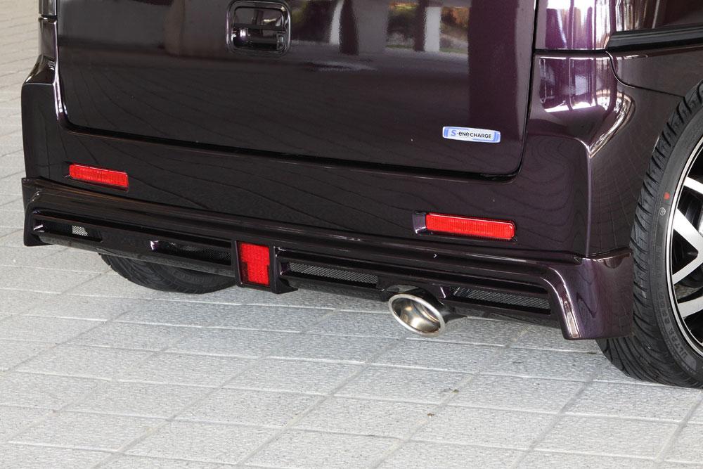 エムズスピード スペーシアカスタム MK42S 後期 リアアンダースポイラー 塗装済 3141-3112 グレースライン ゼウス