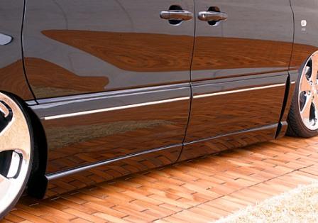 エムズスピード エスティマ ACR MCR 30系 後期 サイドステップ+サイドパネル 未塗装 4062-2141 エグゼライン ゼウス