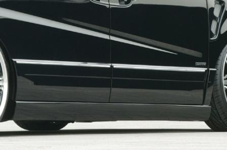 エムズスピード ステップワゴンスパーダ RG1 RG2 後期 サイドステップ+サイドドアパネル 未塗装 4123-2141 エグゼライン ゼウス