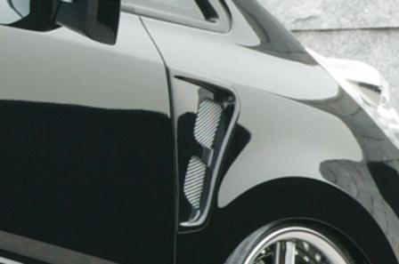 エムズスピード ステップワゴンスパーダ RG1 RG2 後期 フェンダーダクト 未塗装 4123-7141 エグゼライン ゼウス