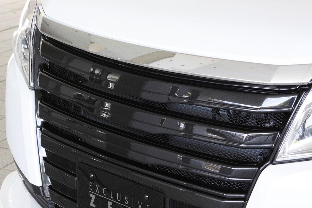 エムズスピード ノアハイブリッド ZWR80G フロントグリル 塗装済 グレースライン ゼウス