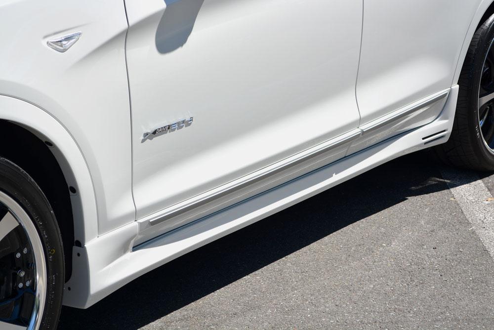 エムズスピード BMW xDrive20i(DBA-WX20) xDrive20d BluePerformance(LDA-WY20) xDrive28i(DBA-WX20) xDrive35i(DBA-WX35) サイドスポイラー 未塗装 2231-2111 ラヴライン ゼウス