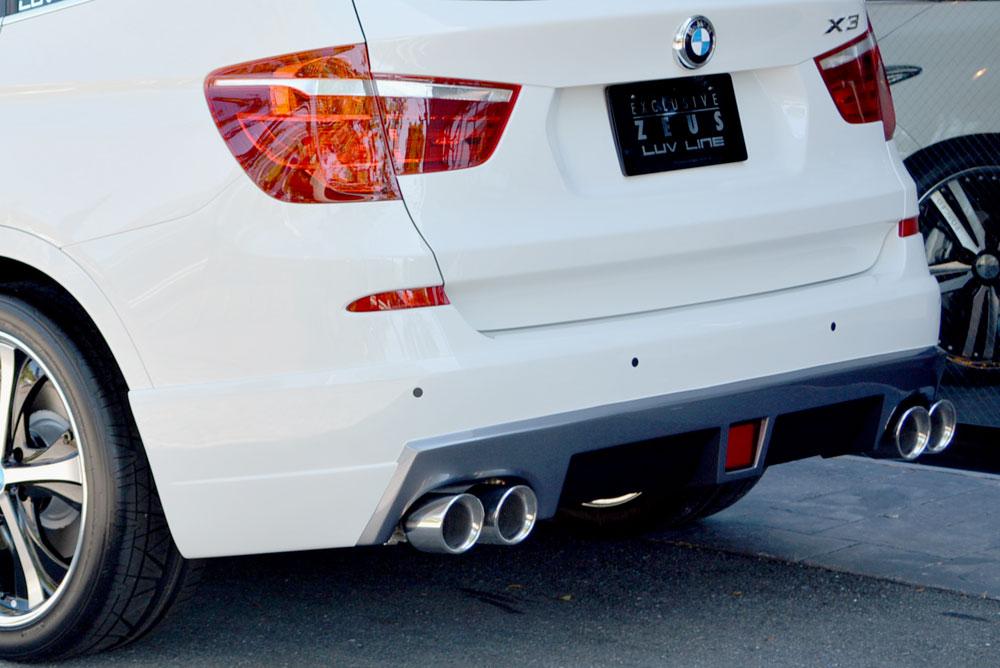 エムズスピード BMW xDrive20i(DBA-WX20) xDrive20d BluePerformance(LDA-WY20) xDrive28i(DBA-WX20) xDrive35i(DBA-WX35) リアハーフスポイラー 未塗装 2231-3111 ラヴライン ゼウス