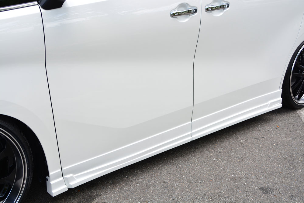 エムズスピード アルファード 前期 サイドステップ 単色塗装済み 3042-2211 AYH30系 特価 グレースライン AGH エアロパーツ 着後レビューで 送料無料 GGH ゼウス