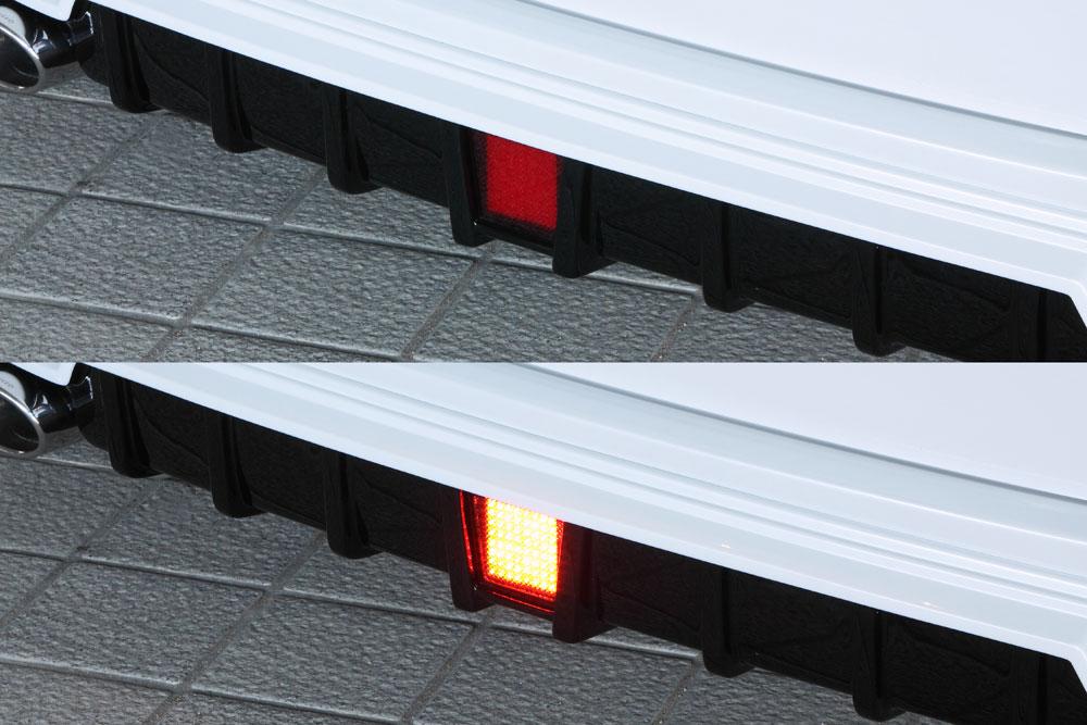エムズスピード ヴォクシー ヴォクシーハイブリッド VOXY ZRR80W ZWR80W 後期 LEDバックフォグランプ 0041-0002 グレースライン ゼウス