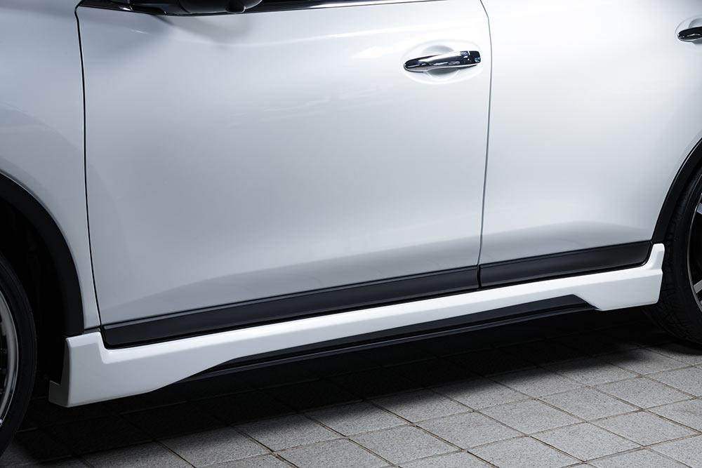 エムズスピード エクストレイル T32 後期 サイドステップ 単色塗装済み 2351-2133 ラヴライン ゼウス