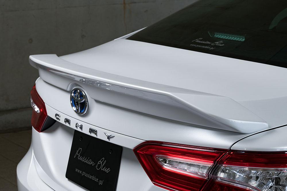 エムズスピード カムリ AXVH70 トランクスポイラー 単色塗装 6551-5113 プルシャンブルー ゼウス